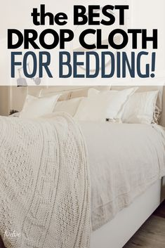 The Insanely Inexpensive Farmhouse Style Bedding Hack Get farmhouse style bedding the easy way! Check out my 15 dollar bedding hack that can transform your bed and give your room style for less! Drop Cloth Curtains, Diy Curtains, Drop Cloth Slipcover, Slipcovers, Farmhouse Style Bedding, Farmhouse Decor, Modern Farmhouse, Farmhouse Bed Pillows, Red Farmhouse