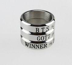 Bangtan Boys BTS / GOT7 GOT 7 / WINNER Kpop Stainless Steel Ring Rings