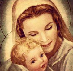 Virgen con el Niño <3