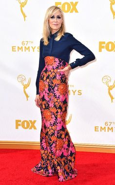 Judith Light from Worst Dressed at the 2015 Emmys  We don't honestly think she wrapped a curtain around her waist but it kind of looks like that.
