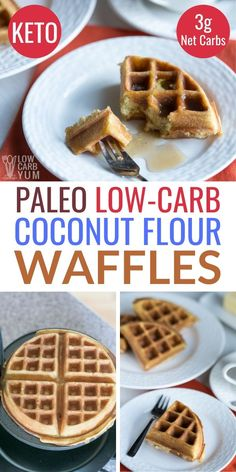 Coconut Flour Waffles Keto Low Carb Paleo Coconut Flour Waffles Keto Low Carb Paleo – These easy keto waffles made with coconut flour are a real treat. It's one of the best low carb waffles recipes! Keto Friendly Desserts, Low Carb Desserts, Low Carb Recipes, Best Low Carb Waffle Recipe, Keto Waffle, Healthy Waffle Recipes, Healthy Food, Healthy Eating, Coconut Flour Waffles