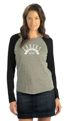 Touch by Alyssa Milano Los Angeles Lakers Tri Blend Long Sleeve Raglan Top