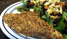 Healthy Pecan Crusted Fish Recipe | Additional pecan recipes available at www.GeorgiaPecans.org