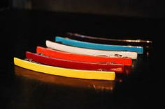 LITTLE WOMAN PARIS COLLECTION - HAIR CLIPS - Brightly coloured enamel hair clips