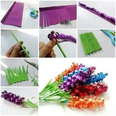 DIY Paper Flower Tutorial Step By Step Instructions for making crepe paper roses, lilies and marigold flowers. Hand made decorative flowers Paper Flower Tutorial, Paper Flowers Diy, Paper Roses, Flower Crafts, Diy Paper, Paper Art, Flower Diy, Quilling Flowers, Origami Paper