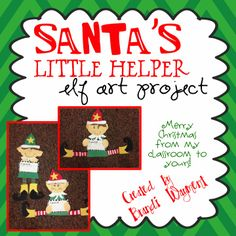 Santa's Little Helper - Christmas Elf Craftivity TpT Freebie