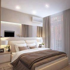 Спальня в тёплых тонах Автор - Homecult