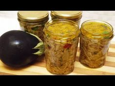 MELANZANE SOTT'OLIO ricetta tradizionale - Eggplants in oil traditional recipe - YouTube Pickled Eggplant, Pickle Jars, Spice Blends, Canning Recipes, Antipasto, Recipe Of The Day, Easy Dinner Recipes, Italian Recipes, Pickles