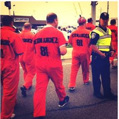Buffalo Bills fans made a statement with their 'Orange is the New Black' game day gear against the Patriots. What do you think of their nod to Hernandez's pending murder trial? Below the belt or all in good fun?  #NFL #News #BuffaloBills #Patriots #GLTG #Football