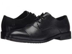Frye Sam Oxford (Black Hand Antiqued Full Grain) Men's Lace Up Cap Toe Shoes