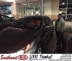 https://flic.kr/p/DT4Pks | Happy Anniversary to Daria on your #Kia #Optima from Clinton Miller at Southwest Kia Mesquite! | deliverymaxx.com/DealerReviews.aspx?DealerCode=VNDX