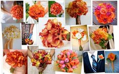 Flowers, Orange, Bouquet, Inspiration board #wedding