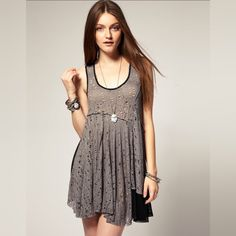f6d707eb2b569 Free People Luscious Lagoon Dress Violet Harmon Super rare gorgeous lace  dress as seen on Violet