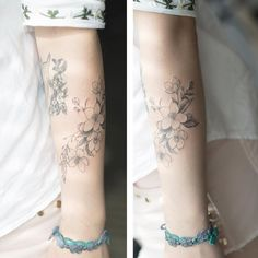 Line flower . #tattoo#tattooist#tattooistsol#솔타투#lettering#soltattoo#color#colortattoo#꽃타투#flowertattoo#flower#꽃 #타투#타투이스트솔