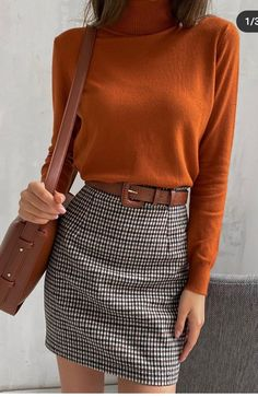 casual work outfits for women with skirt 1 Mode Outfits, Office Outfits, Fall Outfits, Casual Outfits, Fashion Outfits, Office Wear, Girly Outfits, Mode Lookbook, Inspiration Mode