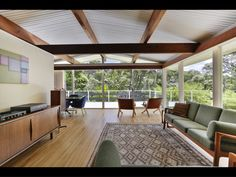 203 Atkinson Road, Titirangi - Property history and estimated values in Waitakere City, Auckland Clad Home, Built In Furniture, Timber House, Floor To Ceiling Windows, Timber Flooring, Mid Century House, Inspired Homes, Mid Century Design, Cladding