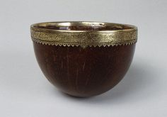 Cup, Coconut Date: ca. 1503 Culture: Italian Medium: Silver gilt and coconut Dimensions: H: 2 in. cm), Diam: 3 in. cm) Classification: Metalwork-Silver In Combination Credit Line: Gift of Alastair Bradley Martin, 1949 Accession Number: Coconut Cups, Coconut Shell, Renaissance Artworks, Ancient Artifacts, Middle Ages, Metropolitan Museum, Metal Working, Art Decor, Medieval