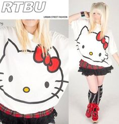 Hello Kitty Face Shirt in White