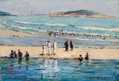 Louise Upton Brumback (1867-1929),   Good Harbor Beach-Twin Lights-East Gloucester.