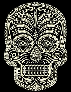Sugar skull by Michael Hinkle, via Behance