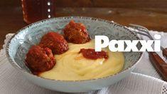 Σουτζουκάκια με βελούδινο πουρέ - Paxxi E105 Greek Recipes, Food Videos, Rolls, Pudding, Yummy Food, Lunch, Beef, Dinner, Cooking