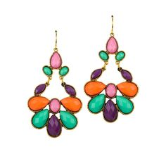 Little Black Bag | Petal Earrings by All the Rage // more Eastern chic today. Something about these is right... Colorful, detailed, unusual...