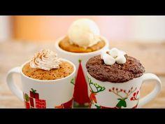 Learn how to make my Seasonal Mug Cakes including a decadent Hot Chocolate Mug Cake, warm Pumpkin Mug Cake & a spicy Gingerbread Mug Cake!