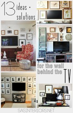 Ideas + solutions for the wall behind the tv - sas interiors tv wall decor, My Living Room, Home And Living, Living Room Decor, Photowall Ideas, Decor Around Tv, Tv Wall Decor, Wall Art, Diy Home, Home Decor
