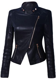 Side Zipper Biker Jacket