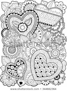 Free printable Valentine's Day coloring pages for use in your classroom and home from PrimaryGames. Print and color this Zentangle Hearts coloring page. Heart Coloring Pages, Printable Adult Coloring Pages, Mandala Coloring Pages, Colouring Pages, Coloring Sheets, Coloring Books, Coloring Pages For Adults, Doodle Coloring, Free Coloring