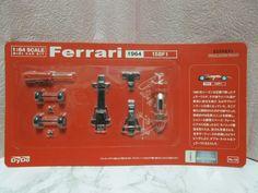 New Kyosho 1:64 scale MINI CAR KIT Ferrari 1964 158F1 Dydo from Japan