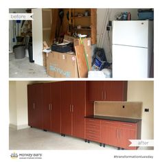 Garage cabinets can completely elevate your space! (from Monkey Bar Storage)