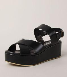 Christina Sandal Black Leather from Miss Wilson