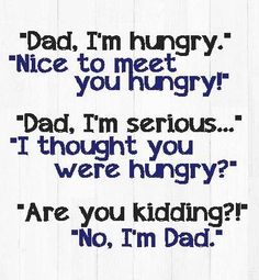Seriously, my dad did this all the time. It's drove me crazy. It still drives me crazy
