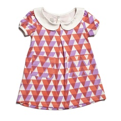 Chelsea Dress - Triangles Orange & Lavender - Winter Water Factory