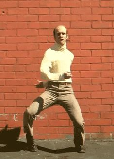 The Evolution of the Pee Pee Dance flapping wildly