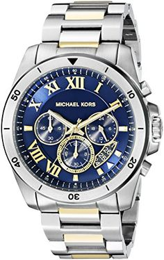 Men's Wrist Watches - Michael Kors Mens Brecken TwoTone Watch MK8437 * Continue to the product at the image link.