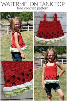 Watermelon Crochet Tank Top - Celebrate summer in style with this cute Watermelon Crochet Tank Top!