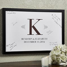 This is the perfect alternative guest book idea for a wedding! It's a beautiful canvas print that you can personalize with any color or text and it can be framed or it comes just as a true canvas ... leave out a couple of sharpies next to it at the reception and ask people to leave marriage advice or to just sign their name and leave a special message ... such a cute idea!