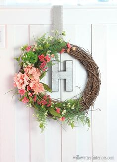 learn how to make this pretty spring wreath!