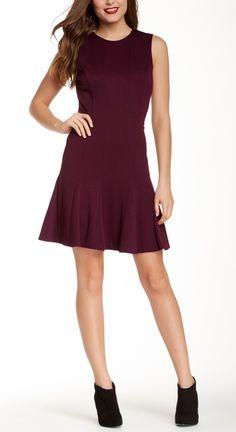 Nicole Miller Sleeveless Dress in Marsala.