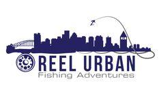 logo design for Reel Urban Fishing Adventures by the logo boutique Best Logo Design, Custom Logo Design, Custom Logos, Marathon Logo, Personal Training Logo, Best Logo Maker, Logo Basketball, Fishing Adventure, Sports Logo