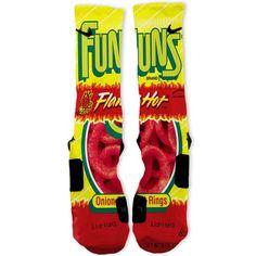 Flamin Hot Funyuns Custom Nike Elite Socks – Fresh Elites