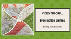 This tutorial goes only for over 2 minutes but it teaches you the basics of free motion quilting. It also suggests some easy free motion patterns to start with. How to do free motion quilting video… Quilting For Beginners, Quilting Tutorials, Quilting Designs, Sewing Tutorials, Free Tutorials, Quilting Ideas, Quilting Projects, Sewing Ideas, Butterfly Quilt Pattern