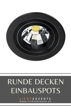 Schwarze Decken Einbauleuchte - online entdecken bei Lichtakzente.at. Runder Einbaustrahler mit rückversetzten Leuchtmittel, dreh und schwenkbar. Der Einbauspot ist geeignet für: Wohnzimmer, WC, Diele, Flur, Schlafzimmer, Esszimmer, Kinderzimmer, Küche usw. // #spots beleuchtung decke schwarz #strahler decke schwarz #deckenspots #strahler küche #deckeneinbau #spot #spots #lampen und leuchten #lichtakzente Music Instruments, Contemporary Light Fixtures, Ceiling Lights, Ceiling Light Living Room, Musical Instruments