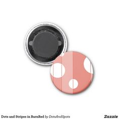 Dots and Stripes in BarnRed Magnet
