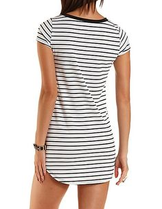 striped hem dress - White Charlott SgLgr