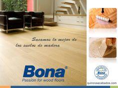 """Bona: Fundada en 1919 con filiales en más de 50 países y un único objetivo """"Sacar lo mejor de los suelos de madera"""", trabaja para lanzar continuamente al mercado productos de mayor calidad pero siempre de inferior impacto medioambiental. #pisosdemadera #BonaMexico http://www.quinovaacabados.com/productos-bona/"""