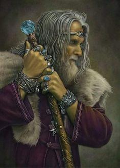 Eron by Chris Down - Fantasy Art, Celtic Art, Fairy Art, Gothic Art and Steampunk Art Celtic Fantasy Art, Celtic Art, Dark Fantasy, Irish Mythology, Celtic Culture, Gandalf, Character Portraits, Gothic Art, Fairy Art