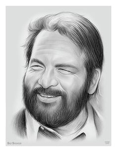 Drawing - Bud Spencer by Greg Joens , Retro Hits, Professional Swimmers, Water Polo Players, Terence Hill, Helicopter Pilots, Graphite Drawings, Western Movies, New Kids, Dj